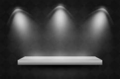 Scena o fondo nera di struttura Fotografia Stock
