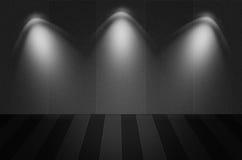 Scena o fondo nera di struttura Fotografie Stock Libere da Diritti