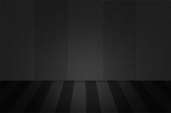 Scena o fondo nera di struttura Immagini Stock