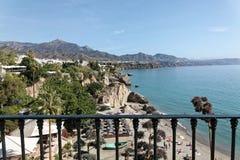 Scena od Balcon de Europe, Hiszpania Obraz Royalty Free