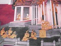 Scena od Ramakien w Wacie Phra Kaew, Bangkok, Tajlandia Obrazy Stock