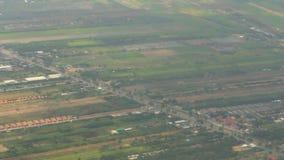 Scena osservata dall'aereo video d archivio