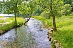 Scena pacifica del fiume Fotografia Stock