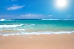 Scena pacifica della spiaggia fotografia stock libera da diritti
