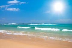 Scena pacifica della spiaggia fotografia stock
