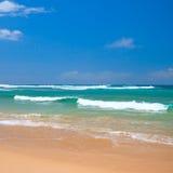 Scena pacifica della spiaggia Fotografie Stock