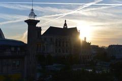 Scena Paryż ulica i buiding Obraz Royalty Free