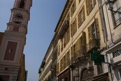 Scena piacevole della via della Francia Fotografia Stock Libera da Diritti