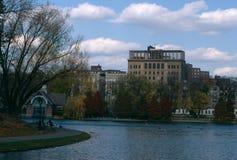Scena przy jawnym parkiem, Manhattan, Miasto Nowy Jork, usa obrazy stock