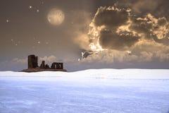 scena pustynny biel ilustracji