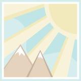 Scena quadrata della montagna Immagine Stock Libera da Diritti