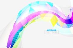Scena quadrata di forma di colori astratti Fotografia Stock