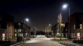 Scena residenziale di notte Immagine Stock