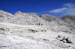 Scena rocciosa della montagna Fotografia Stock