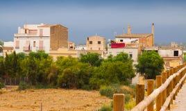 Scena rurale in città spagnola Immagine Stock