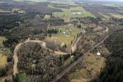 Scena rurale dello Stato del Washington Immagine Stock