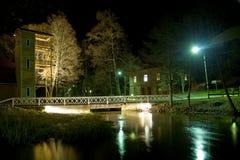 Scena rurale di notte della Finlandia Fotografia Stock Libera da Diritti