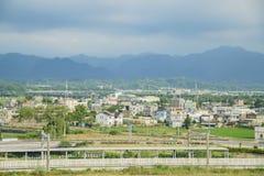 Scena rurale intorno alla stazione ferroviaria ad alta velocità di Miaoli Immagine Stock Libera da Diritti