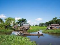 Scena rurale in Maubin, Myanmar Fotografie Stock Libere da Diritti