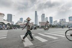 Scena Saigon, Ho Chi Min City della via Immagini Stock
