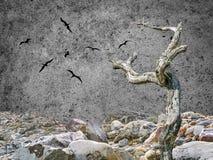 Scena scura di Lanscape di fantasia immagini stock libere da diritti