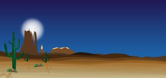Scena selvaggia del deserto Fotografie Stock