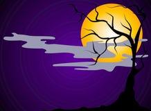 Scena spaventosa di notte di Halloween illustrazione di stock