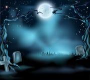 Scena spettrale del fondo di Halloween Fotografia Stock Libera da Diritti