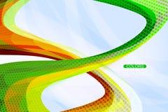 Scena a spirale variopinta di forma Immagini Stock Libere da Diritti