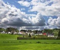 Scena tedesca del villaggio Immagini Stock