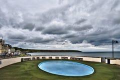Scena tempestosa della spiaggia Fotografia Stock Libera da Diritti
