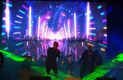 Scena in tensione di concerto di Spectacular Immagini Stock