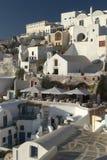 Scena tipica dall'isola greca di Santorini Immagini Stock Libere da Diritti