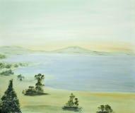 Scena tranquilla con il lago Fotografia Stock
