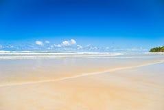 Scena tranquilla della spiaggia Immagini Stock Libere da Diritti