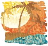 Scena tropicale dell'annata Fotografia Stock Libera da Diritti