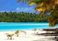 Scena tropicale della spiaggia Fotografie Stock