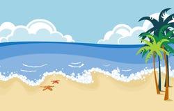 Scena tropicale della spiaggia Fotografia Stock
