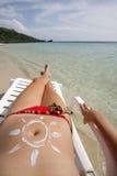 Scena tropicale della spiaggia immagine stock