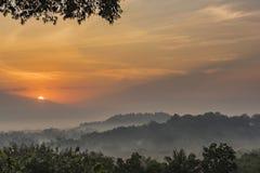 Scena tropicale di alba Fotografia Stock