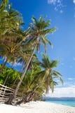 Scena tropicale idilliaca Fotografia Stock