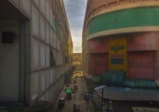 Scena urbana al viale del recto, Manila, Filippine Fotografie Stock