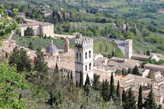 Scena urbana a Assisi Immagini Stock Libere da Diritti