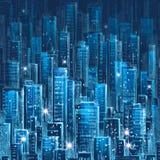 Scena urbana Città alla notte Immagine Stock Libera da Diritti
