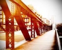 Scena urbana del ponte Fotografia Stock