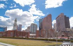 Scena urbana dell'orizzonte di Boston Masachusetts Immagine Stock