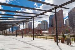 Scena urbana dell'orizzonte di Boston Masachusetts Fotografia Stock Libera da Diritti