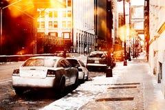 Scena urbana della via Fotografia Stock