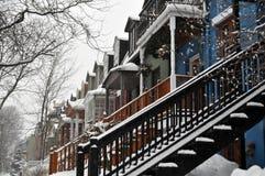 Scena urbana di inverno fotografie stock libere da diritti