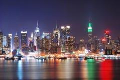 Scena urbana di notte della città Immagini Stock Libere da Diritti